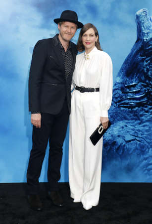 Renn Hawkey and Vera Farmiga at the Los Angeles premiere of Godzilla: King Of The Monsters held at the TCL Chinese Theatre in Hollywood, USA on May 18, 2019. 新聞圖片