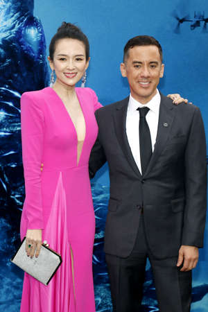 Michael Dougherty and Zhang Ziyi at the Los Angeles premiere of 'Godzilla: King Of The Monsters' held at the TCL Chinese Theatre in Hollywood, USA on May 18, 2019.