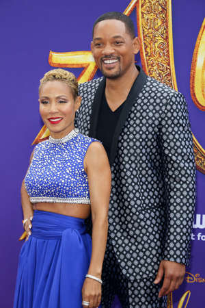 Jada Pinkett Smith and Will Smith at the Los Angeles premiere of 'Aladdin' held at the El Capitan Theatre in Hollywood, USA on May 21, 2019.