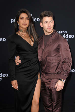 Nick Jonas and Priyanka Chopra at the premiere of Amazon Prime Videos Chasing Happiness held at the Regency Bruin Theatre in Westwood, USA on June 3, 2019. Editorial