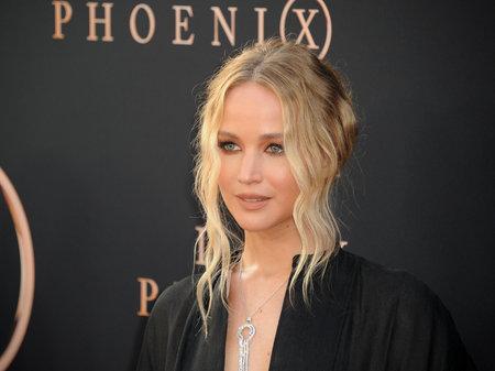 Jennifer Lawrence bij de première in Los Angeles van 'Dark Phoenix', gehouden op 4 juni 2019 in het TCL Chinese Theatre in Hollywood, VS.