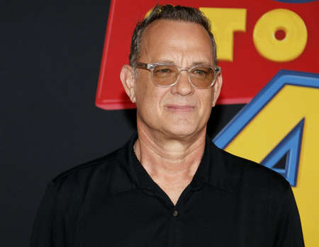 Tom Hanks at the World premiere of 'Toy Story 4' held at the El Capitan Theater in Hollywood, USA on June 11, 2019. 報道画像