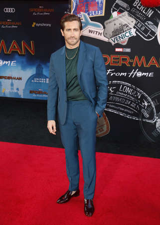 Jake Gyllenhaal at the World premiere of Spider-Man Far From Home held at the TCL Chinese Theatre in Hollywood, USA on June 26, 2019. Editorial