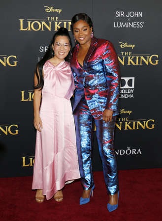 Ali Wong and Tiffany Haddish at the World premiere of 'The Lion King' held at the Dolby Theatre in Hollywood, USA on July 9, 2019. Editorial
