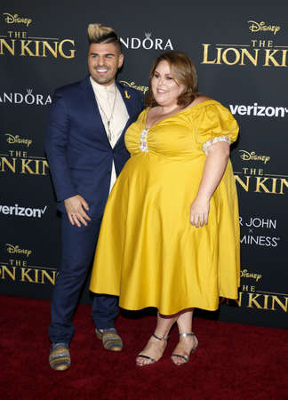 Chrissy Metz and Matt Bloyd at the World premiere of 'The Lion King' held at the Dolby Theatre in Hollywood, USA on July 9, 2019.