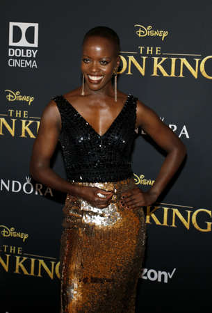 Florence Kasumba at the World premiere of 'The Lion King' held at the Dolby Theatre in Hollywood, USA on July 9, 2019. Editorial