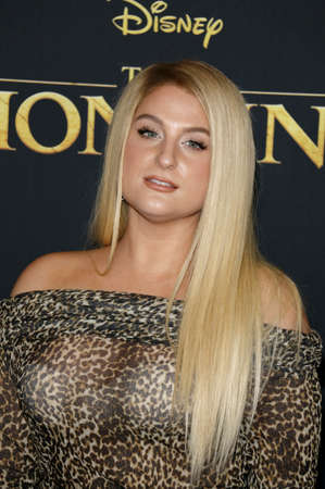 Meghan Trainor at the World premiere of 'The Lion King' held at the Dolby Theatre in Hollywood, USA on July 9, 2019. Editorial
