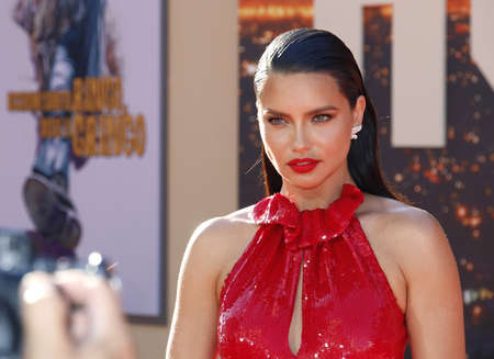 Adriana Lima at the Los Angeles premiere of 'Once Upon a Time In Hollywood' held at the TCL Chinese Theatre IMAX in Hollywood, USA on July 22, 2019.