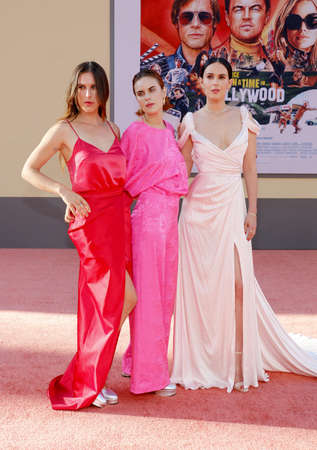 Rumer Willis, Tallulah Willis and Scout Willis at the Los Angeles premiere of 'Once Upon a Time In Hollywood' held at the TCL Chinese Theatre in Hollywood, USA on July 22, 2019.