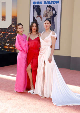 Rumer Willis, Tallulah Willis and Scout Willis at the Los Angeles premiere of 'Once Upon a Time In Hollywood' held at the TCL Chinese Theatre IMAX in Hollywood, USA on July 22, 2019. Editorial