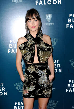 Dakota Johnson at the Los Angeles premiere of 'The Peanut Butter Falcon' held at the ArcLight Cinemas in Hollywood, USA on August 1, 2019.