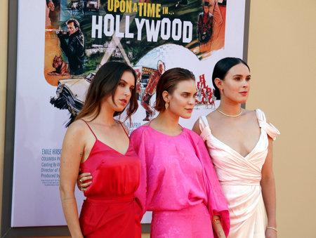 """Rumer Willis, Tallulah Willis e Scout Willis alla prima di Los Angeles di """"C'era una volta a Hollywood"""" tenutasi al Tcl Chinese Theatre di Hollywood, Stati Uniti d'America il 22 luglio 2019. Editoriali"""