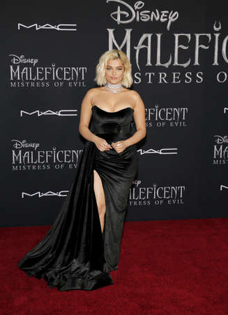 Bebe Rexha at the World premiere of Disney's 'Maleficent: Mistress Of Evil' held at the El Capitan Theatre in Hollywood, USA on September 30, 2019.