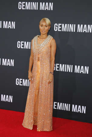 Jada Pinkett Smith at the Los Angeles premiere of Gemini Man held at the TCL Chinese Theatre in Hollywood, USA on October 6, 2019.