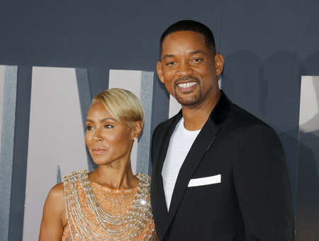 Will Smith and Jada Pinkett Smith at the Los Angeles premiere of Gemini Man held at the TCL Chinese Theatre in Hollywood, USA on October 6, 2019. Sajtókép