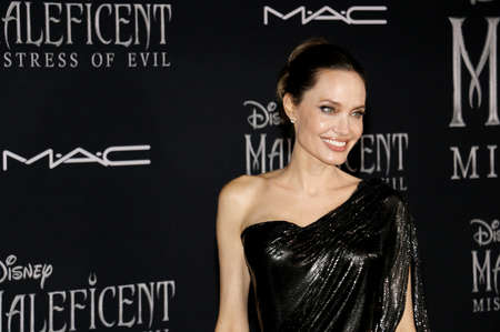 Angelina Jolie at the World premiere of Disney's 'Maleficent: Mistress Of Evil' held at the El Capitan Theatre in Hollywood, USA on September 30, 2019. 報道画像