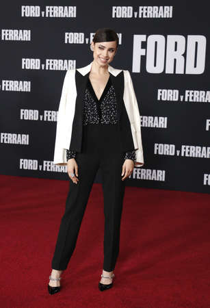 Sofia Carson at the Los Angeles premiere of Ford V Ferrari held at the TCL Chinese Theatre in Hollywood, USA on November 4, 2019. Editöryel