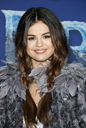 Selena Gomez at the World premiere of Disneys Frozen 2 held at the Dolby Theatre in Hollywood, USA on November 7, 2019.