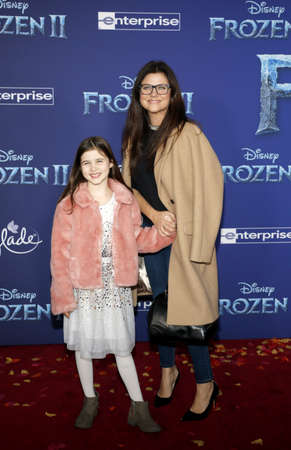 Harper Renn Smith and Tiffani Thiessen at the World premiere of Disneys Frozen 2 held at the Dolby Theatre in Hollywood, USA on November 7, 2019. Editöryel