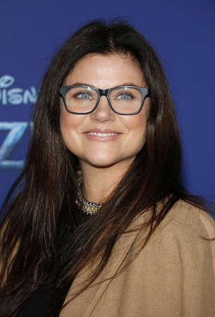 Tiffani Thiessen at the World premiere of Disneys Frozen 2 held at the Dolby Theatre in Hollywood, USA on November 7, 2019.