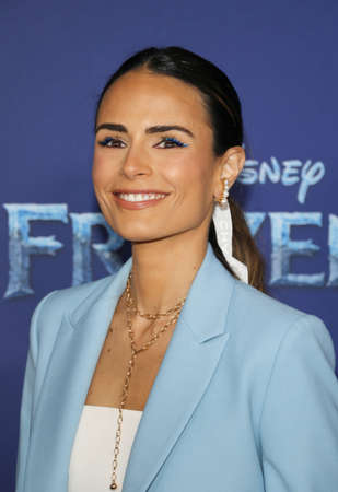 Jordana Brewster at the World premiere of Disneys Frozen 2 held at the Dolby Theatre in Hollywood, USA on November 7, 2019.