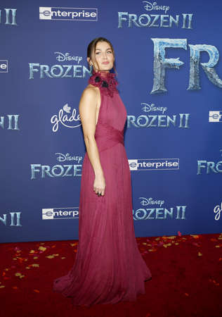 Rachel Matthews at the World premiere of Disneys Frozen 2 held at the Dolby Theatre in Hollywood, USA on November 7, 2019.