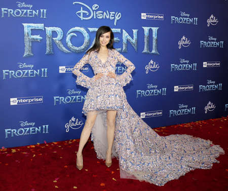 Sofia Carson at the World premiere of Disneys Frozen 2 held at the Dolby Theatre in Hollywood, USA on November 7, 2019. Editöryel