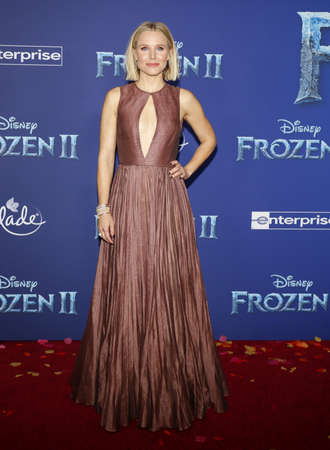 Kristen Bell at the World premiere of Disneys Frozen 2 held at the Dolby Theatre in Hollywood, USA on November 7, 2019.