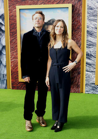 Susan Downey and Robert Downey Jr. at the Los Angeles premiere of 'Dolittle' held at the Regency Village Theatre in Westwood, USA on January 11, 2020.