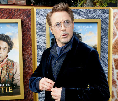 Robert Downey Jr. at the Los Angeles premiere of 'Dolittle' held at the Regency Village Theatre in Westwood, USA on January 11, 2020.