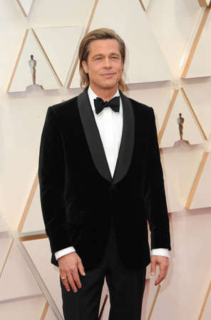 Brad Pitt at the 92nd Academy Awards held at the Dolby Theatre in Hollywood, USA on February 9, 2020. Editorial