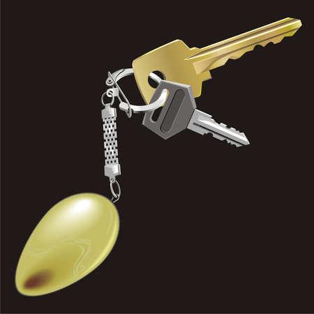 fluorescence: Bunch of keys Illustration