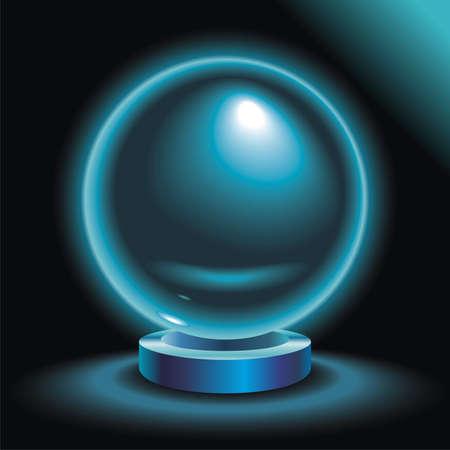 soothsayer: Magic Crystal Ball glowing in the dark