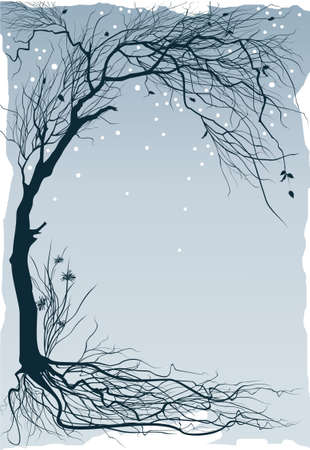 Winter floral background Vector
