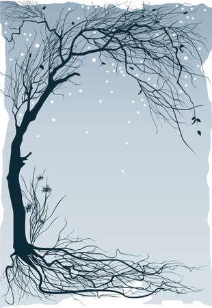 Winter floral background Illustration