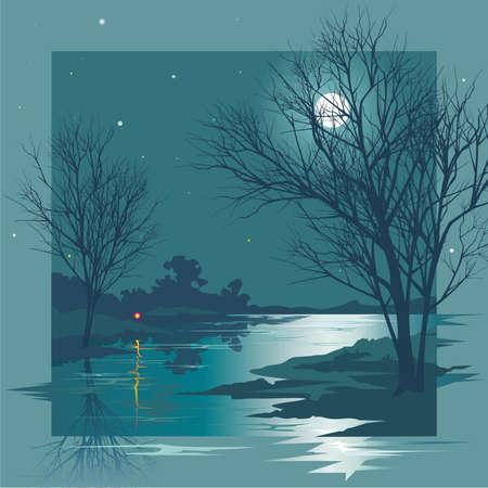 Moonlit Night Illustration