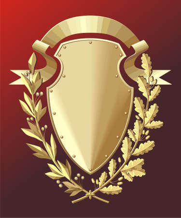 war decoration: Gold shield Illustration