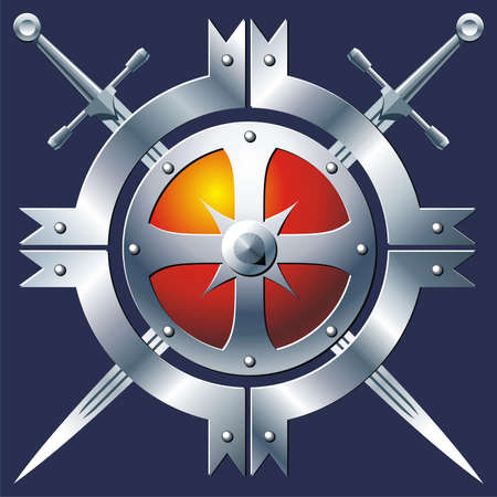 buckler: Badge Stock Photo