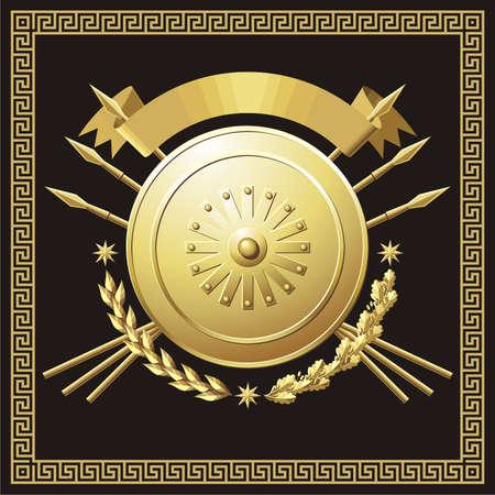 Gold buckler  Illustration