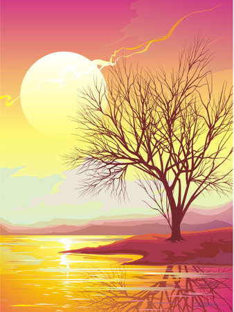 reverberation: Sunset Illustration