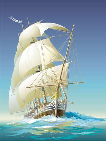 Ocean-going ship