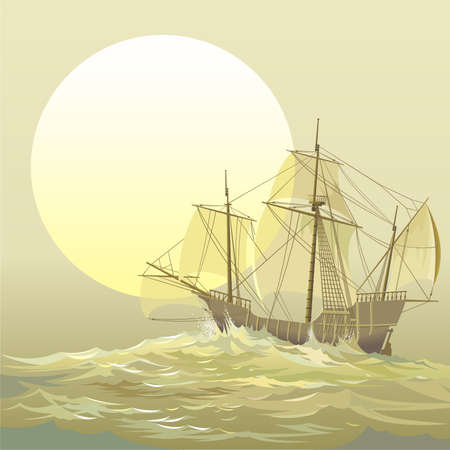 caravel:  Caravel  Santa-Maria Illustration