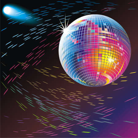 reverberation: Disco mirror sphere, spotlight and color reflections