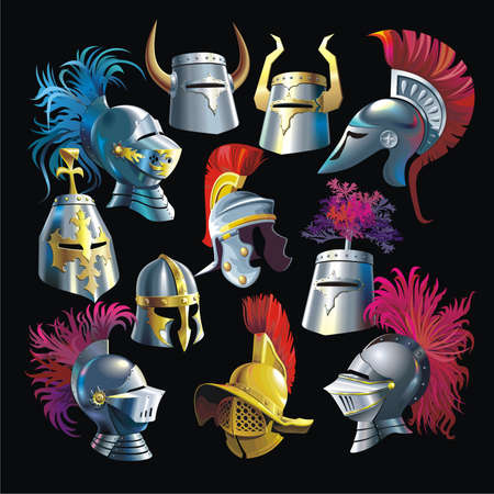 middleages: Helmets