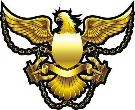 Gold eagle Vector