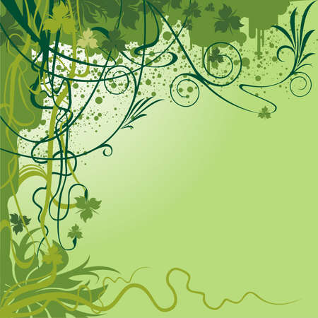 verdure: Floral background