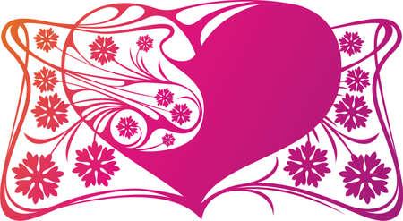 ringlet: Decorative heart