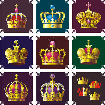 Crowns Stock Vector - 5532533