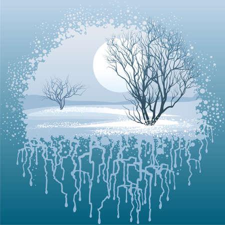 snowdrifts: Paesaggio invernale Vettoriali
