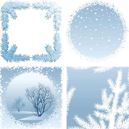 Winter frame Stock Vector - 5563424